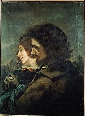 Les Amants dans la campage G.Courbet 1844.jpg